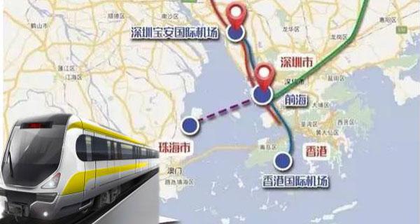 深圳和珠海将建跨海城轨,1小时直达