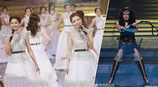 TVB台庆:田蕊妮胡定欣同台献歌 王祖蓝造型辣眼睛