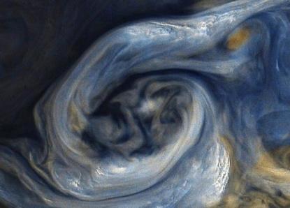 NASA公布木星图片 风暴宛如油画