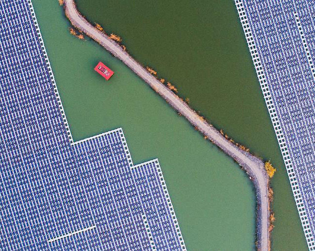 安徽宿州:采煤坍陷区建起光伏电站