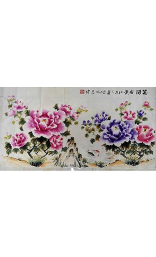 国画《花开富贵》