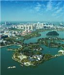 航拍涟水五岛湖享生态人文之美