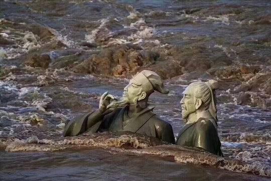 四川洪水迅猛 苏轼黄庭坚