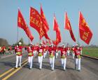 奧運冠軍助力中國永城大漢之源國際萬人徒步大會活動