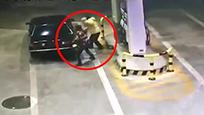 无牌轿车深夜驶入加油站 随后监控拍下龌龊一幕