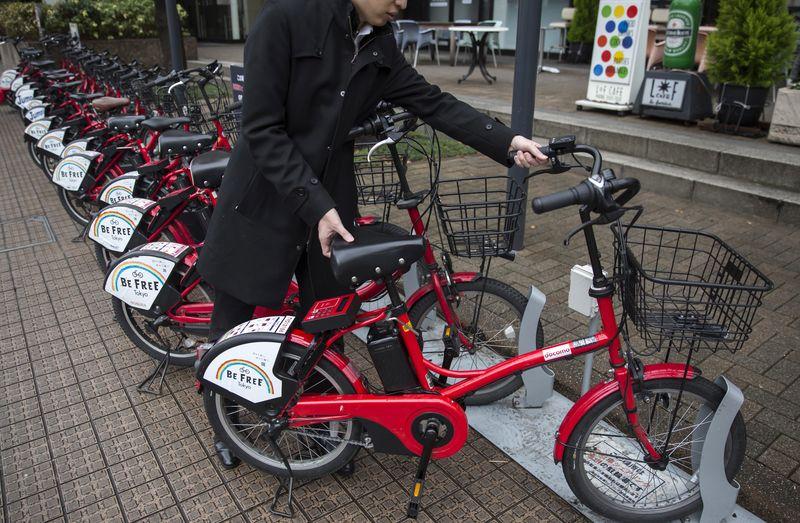 hare的共享单车停车位-发展共享单车 日本想借鉴中国前车之辙