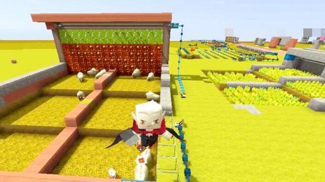 视频-迷你世界电路合集:一个机械臂的混合农业基地