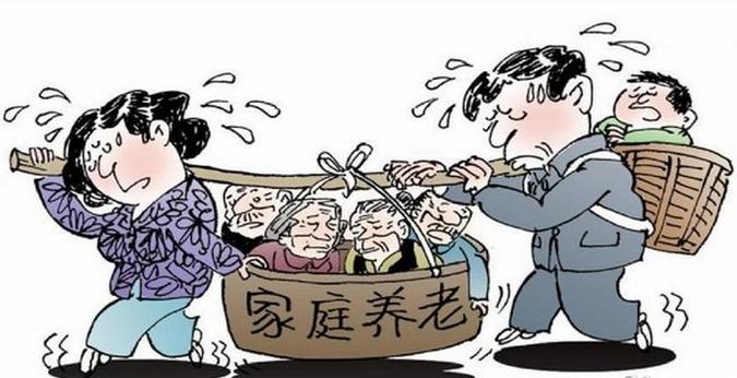 人口老龄化 图_人口老龄化手抄报