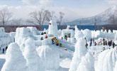 日本札幌冰雪节开幕:梦幻艺术品精巧夺目