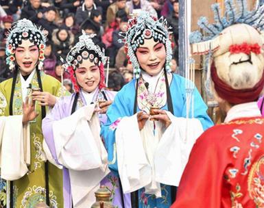 安徽亳州:唱大戏 过大年