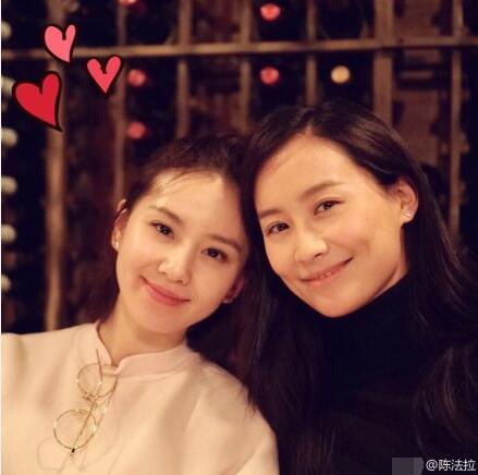 她们竟然是闺蜜!刘诗诗陈法拉晒自拍秀友谊