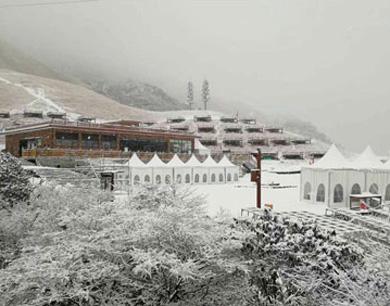 武功山新春首场雪