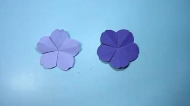 简单的手工折纸樱花 花朵的折纸教程
