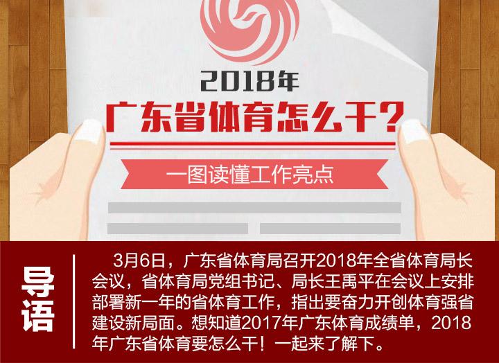 2018广东省体育怎么干?