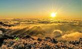 黄山云海、日出、雾凇多景齐现 壮美如画