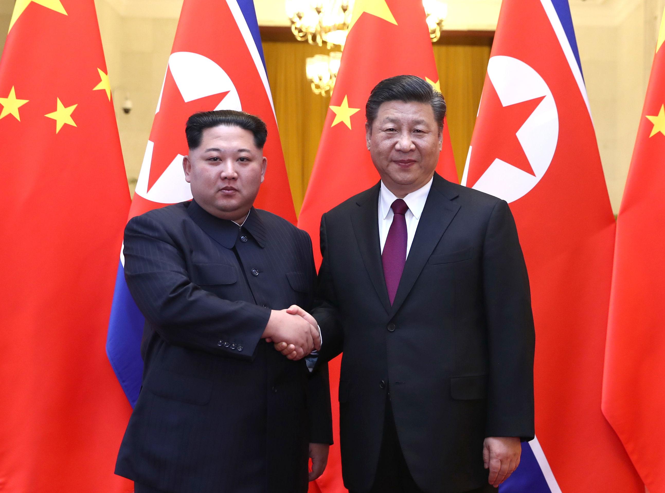 <b>新华社记者:习近平同金正恩举行会谈</b>