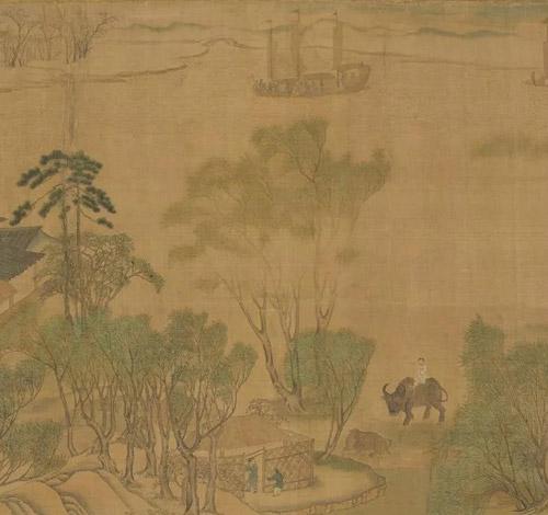 (传)宋张择端《清明易简图卷》 局部 台北故宫博物院藏