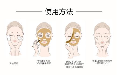 撕拉型面膜使用方法