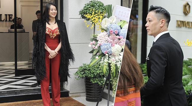 花式秀恩爱!胡杏儿穿红礼服剪彩 获老公一旁为其拍照