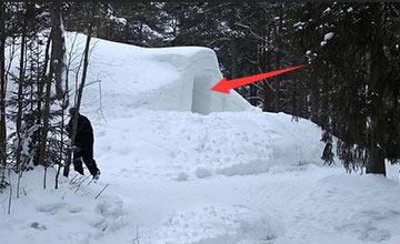 男子用20年在北极挖洞 走进去一看忍不住要嗨起来