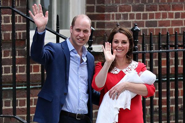 威廉王子凯特王妃小儿子姓名曝光 叫路易斯