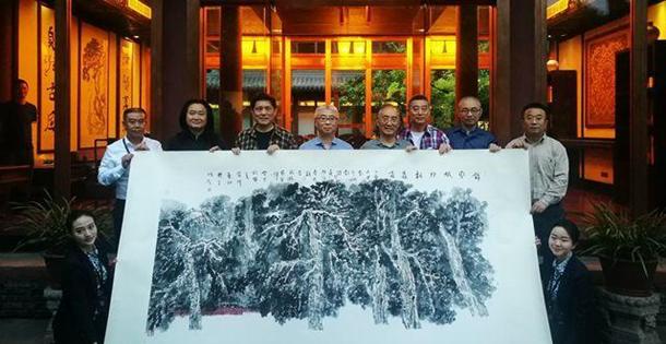"""7位成都画家,共同将""""锦官城外柏森森""""画了出来"""