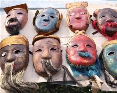 仙居发现浙江罕见古老傩面具 传统民间戏面临失传