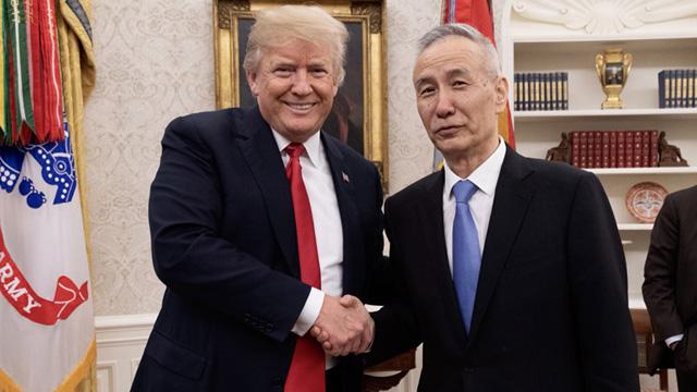特朗普会见习近平主席特使刘鹤