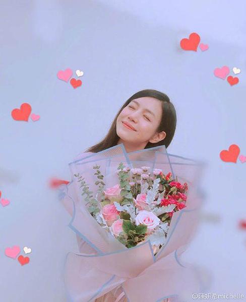 陈晓送的?陈妍希暗秀恩爱:有人送我神秘的花花