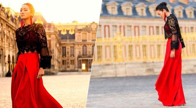 巩俐现身凡尔赛宫晚宴 与法国总理共同就餐合影