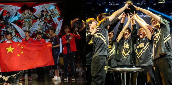 中国电竞之夜!5.20中国战队双双获得国际赛冠军