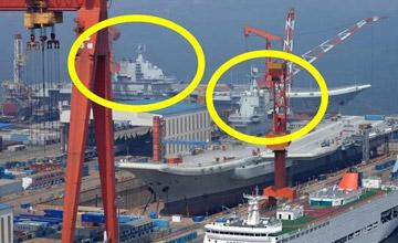 """中国双航母首次""""同框"""" 专家:未来会有更多"""" width="""