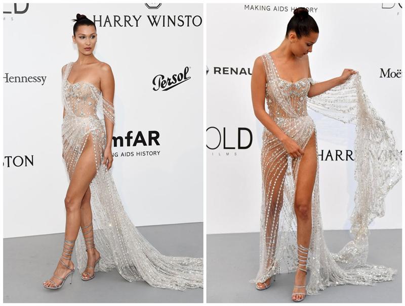 贝拉穿透视裙美腿若隐若现