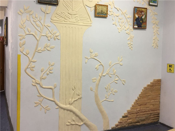 中国旗袍幼儿园主题墙