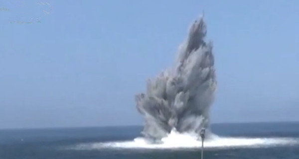 中国海军完成首次水雷战竞赛性考核