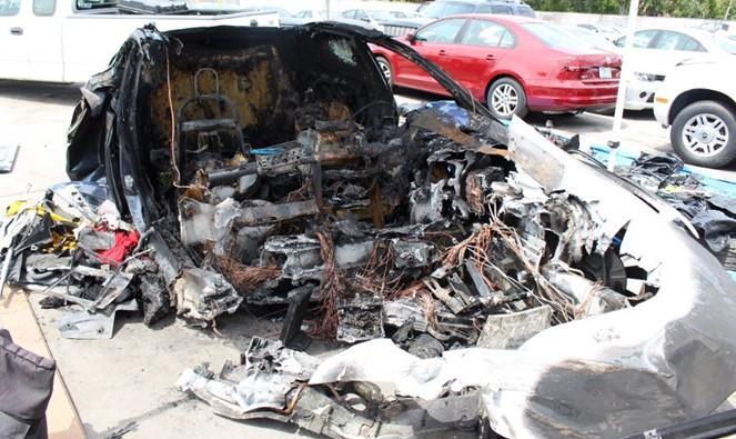 特斯拉Model S致命車禍:車輛被拖停車場后電池再次起火