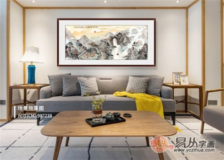 现代中式风格客厅装饰画,诠释不一样的文化底蕴