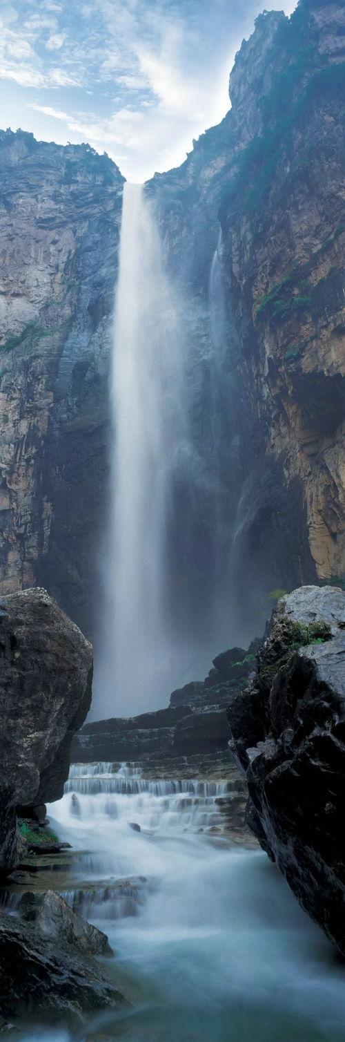 壁纸 风景 旅游 瀑布 山水 桌面 500_1508 竖版 竖屏 手机