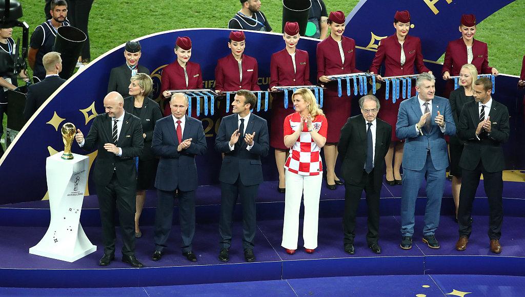世界杯赛程 时隔20年再夺冠!法国4-2克罗地亚魔笛获金球奖