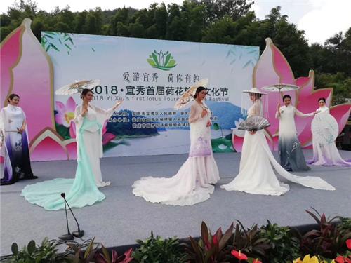 安庆宜秀区杨桥镇首届荷花旅游文化节开幕
