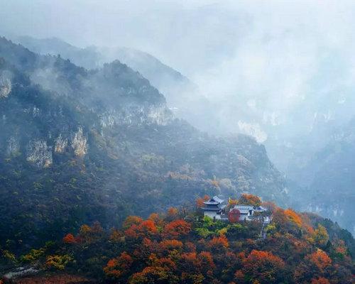 旅游  云台山景区(往期资料图片) 浅掩门扉,与秋为伴,与秋同行,多想