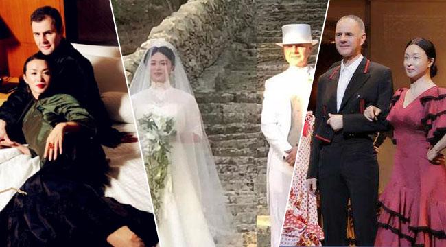 金星与老公意大利复婚 穿洁白婚纱被赞仙女下凡