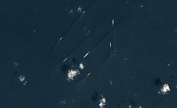 中日釣魚島對峙3天 衛星圖曝光