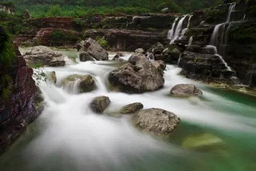 旅游  day2 小寨沟(潭瀑峡,泉瀑峡,猕猴谷)——云栖小吃城&