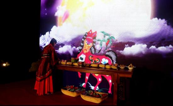 中秋祭月--模特官俗祭月重现大典祈福北京君德情趣内衣性感写真视频千年图片