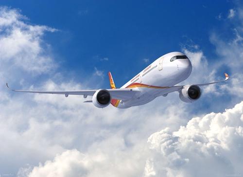 于10月13日执行北京=上海商业航班,标志着海南航空a350运营新时代的正