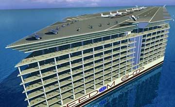 世界第一座海上漂浮城市已经诞生 高25层楼(图)