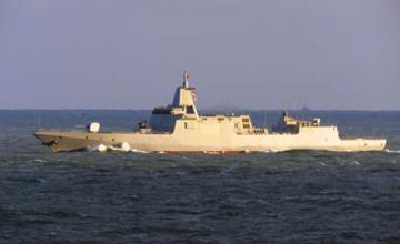 金甲大驱:055驱逐舰再次海试
