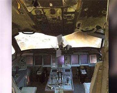 俄航起火客機內部圖首曝光 兩個黑匣子均被找到