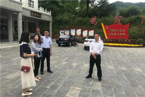 栾川县国资委领导到河南省鸡冠洞旅游发展有限公司调研国有企业党支部标准化建设工作